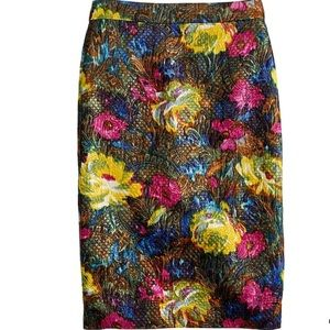 J. Crew Collection No. 2 Skirt in Floral Brocade